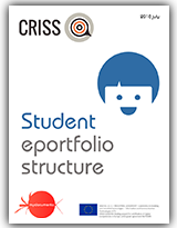 Student's eportfolio structure, for the pilots of the European project CRISS