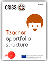 Teacher'S eportfolio structure, for the pilots of the European project CRISS